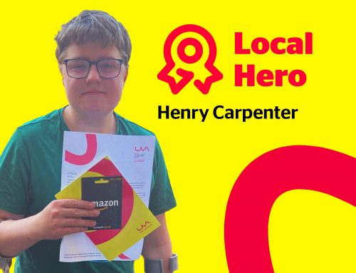 Henry receives UVA Local Hero award after raising over £10,000 for Midlands Air Ambulance